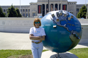 Andrea Harris & Eco Heroes Globe at Chicago's Museum Campus