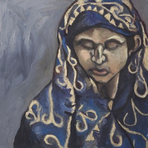 """Woman of Bangladesh Oil & Cold Wax on Canvas 24"""" x 24"""""""