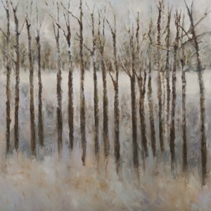 "Forest Mist  Oil & Cold Wax on Canvas 38"" x 38"""