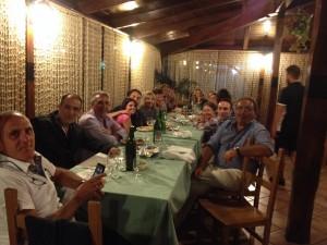 Dinner at La Vigna.