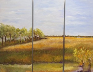 """Moment (triptych) Oil on Canvas, 30"""" x 36"""""""