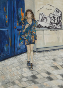 Urban Couture Oil on Canvas 31.5 x 23.62 cm