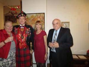 H.R.H. H.E. Ambassador Dr. Alton Louis Amsterdam III, Immigration Justice Elizabeth Lamb & Dr. Dennis Selmont, Ph.D