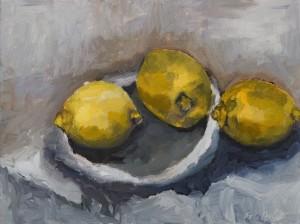 Three Lemons and a Kiss Trois Citrons et un Baiser