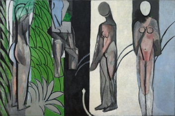 Henri Matisse (French, 1869–1954). Bathers by a River, 1909–10, 1913, 1916–17. Oil on canvas, 260 x 392 cm (102 1/2 x 154 3/16 in.) The Art Institute of Chicago, Charles H. and Mary F. S. Worcester Collection, 1953.158. © 2010 Succession H. Matisse / Artists Rights Society (ARS), New York.